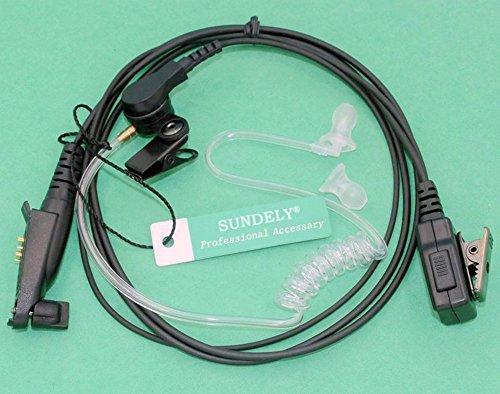 SUNDELY® FBI Style Covert Acoustic Tube Headset Earpiece For Motorola Radio EX500 EX600 GP328PLUS GP329PLUS