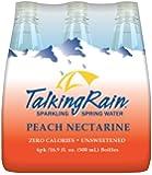 TalkingRain Sparkling Water, Peach Nectarine, 16.9 Ounce (Pack of 24)