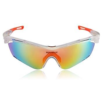 Jian ya NA Outdoor Sports Equitación Gafas polarizadas UV gafas de sol Impact vasos windundurchlässige vasos, plata: Amazon.es: Deportes y aire libre