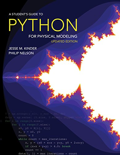 Book cover of A Student's Guide to Python for Physical Modeling by Jesse M. Kinder