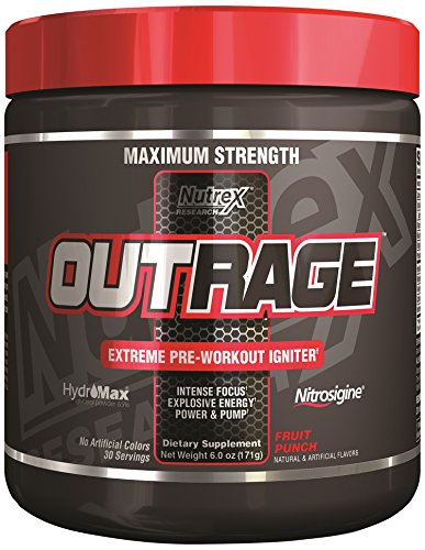 Nutrex Research Outrage Supplement, Fruit Punch, 171 Gram