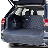 OAKI PET SUV Cargo Liner for Dogs Waterproof Universal Fit Non Slip Trunk Covers with Bumper Flap Protector - Durable Washable and Clean Easy Cover - Car Seat Pocket for Dog Leash Accessories