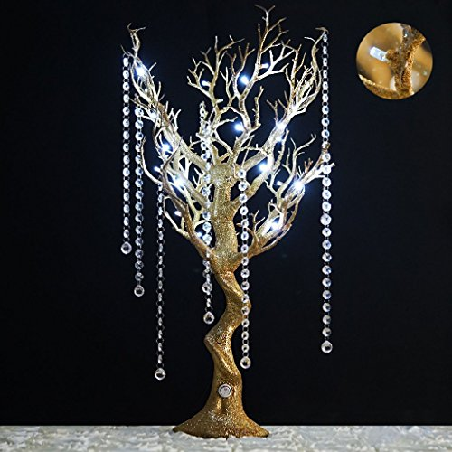"Efavormart 30"" Tall Glitter Gold Manzanita Tree Centerpiece"