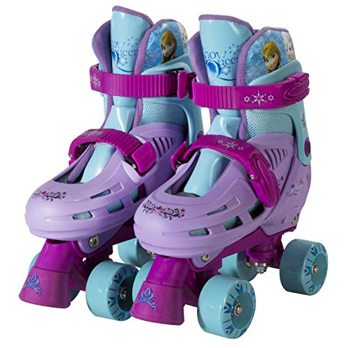 PlayWheels Disney Frozen Classic Quad Roller Skates, Junior Size 1-4 (Best Skates For 4 Year Old)