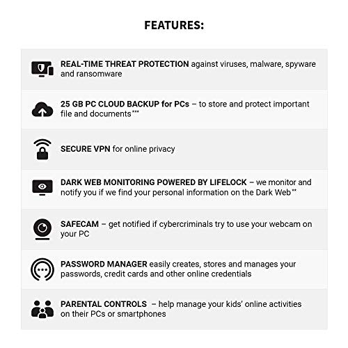 NEW Norton 360 Deluxe – Antivirus software for 3 Devices with Auto