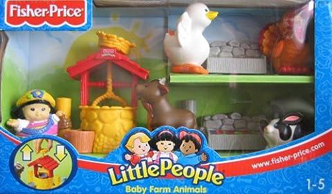 Little People - Baby Farm Animals w Sonya Lee & Animals - 2003 Fisher Price Playset (Little People Sonya Lee)