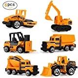 ZICA Toy Cars 6 Set Toy Construction Vehicles /Inertia Toy Engineering Vehicles
