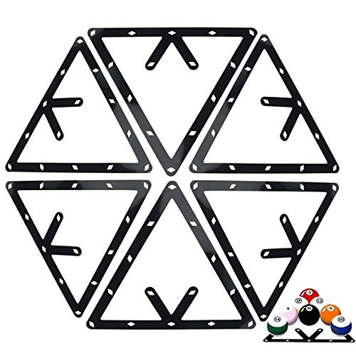 Ogrmar 6PCS Magic Ball Rack Holder Sheet Billiards Triangle Cue Accessories fo rmagic Ball Rack 8, 9, and 10 Ball Combo Pack and Snooker