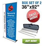 Signworld 36'' HD Retractable Roll Up Banner Stand (Box of 2)