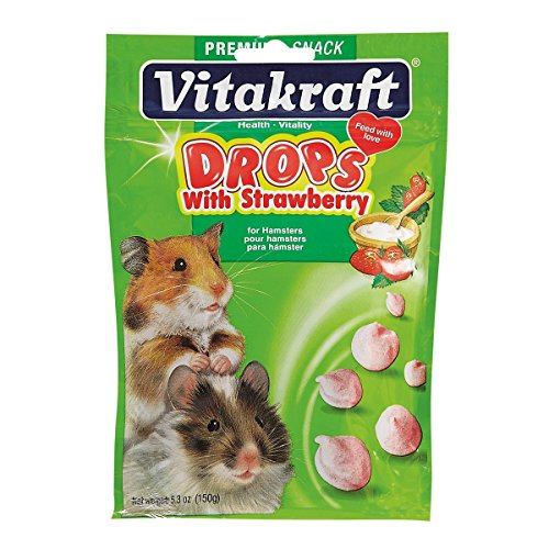 - Vitakraft Hamster Strawberry Drops Treat, 5.3 Ounce Pouch