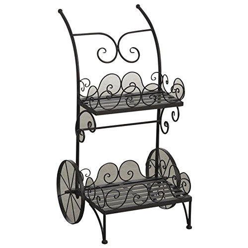Waschtisch-Halterung Pflanze Chariot porte-pots aus Metall antik