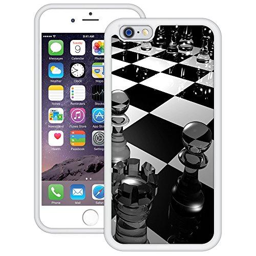 Schach | Handgefertigt | iPhone 6 6s (4,7') | Weiß TPU Hülle