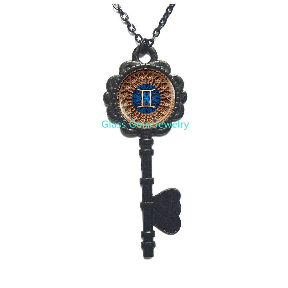 Gemini Zodiac Locket Necklace glass dome Locket Pendant,Q0069 Astrology Locket Necklace Zodiac Sign Gemini Locket Pendant Gemini Zodiac Jewelry