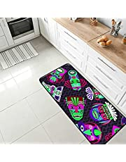 Kitchen Rugs Floor Standing Mats Anti-Fatigue Non Slip Cushioned Sink Office Desk Laundry Area Rugs Water Absorbent Balcony Porch Home Decor