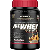 ALLMAX Nutrition AllWhey Gold 100 Whey Protein Premium Whey Protein Isolate Chocolate Peanut Butter 2 lbs 907 g