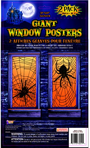 Giant Spiderweb Window Poster Halloween Decoration
