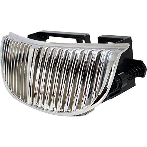 Diften 102-A6937-X01 - New Grille Assembly Grill Chrome Lincoln Town Car 2002 2001 2000 99 98 (Lincoln Town Car Chrome Grille)