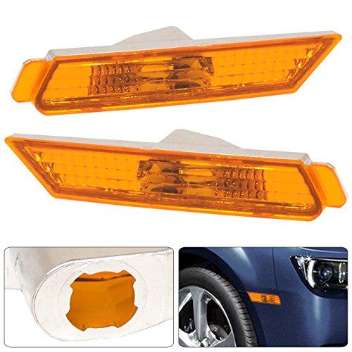 Chevy Chevrolet Camaro Front Side Markers Parking Bumper Fender Amber Reflector Housing Lens Light (Chevy Camaro Fender)