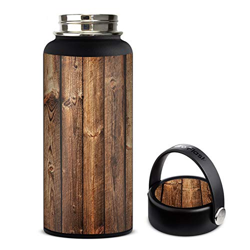 Skin Decal Vinyl Wrap for Hydro Flask 32oz Wide Mouth Skins Stickers Cover/Wood Panels Cherry Oak by IT'S A SKIN (Image #2)