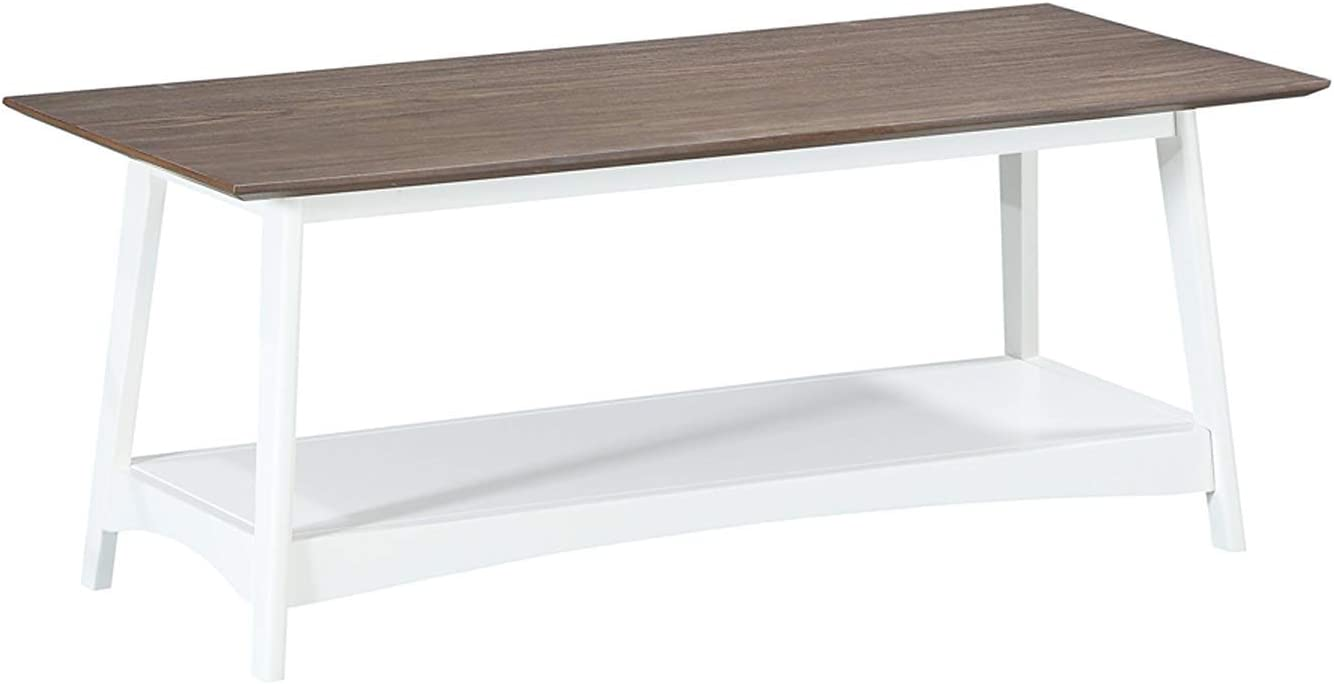 Convenience Concepts Alpine Coffee Table, Driftwood Top / White Frame