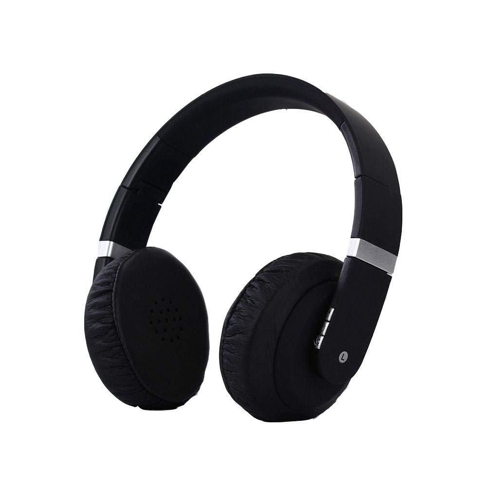 dissylove Over Ear Bluetooth Wireless Headphones- App Custom Sound Control 3.5mm Audio in/Headset Microphone Mobile Phone Notebook TV - Black