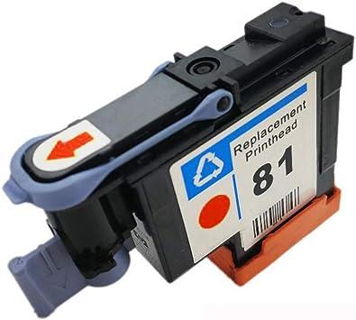 YBCD Apto para Plotter HP Designjet HP5000 HP5500 C4950A C4951A C4952A C4953A C4954A C4955A Cabezal de impresión 81 Cabezal de impresión-fullset: Amazon.es: Electrónica