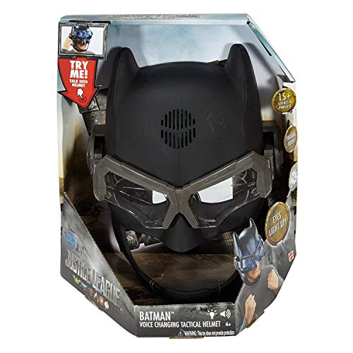 DC Justice League Electronic Batman Voice Changing Tactical Helmet Eyes Light Up! 15+ Sounds & Phrases and Pivoting Sensor 2 Modes Ages 4+ New in Unopened Box -