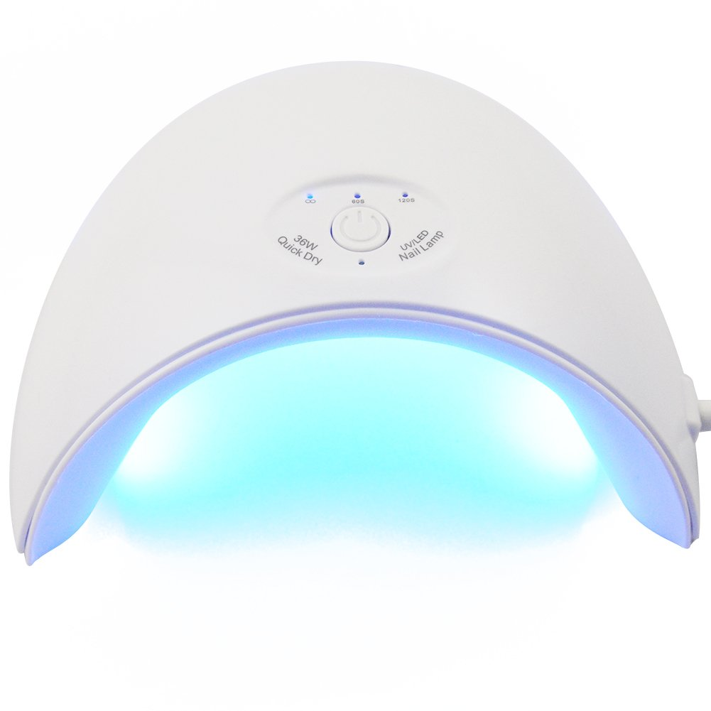 Vilamon 36W LED UV Nail Dryer Curing Lamp LED USB Gel Polish Light Professional with 3 Time Setting White CHIC CHIC