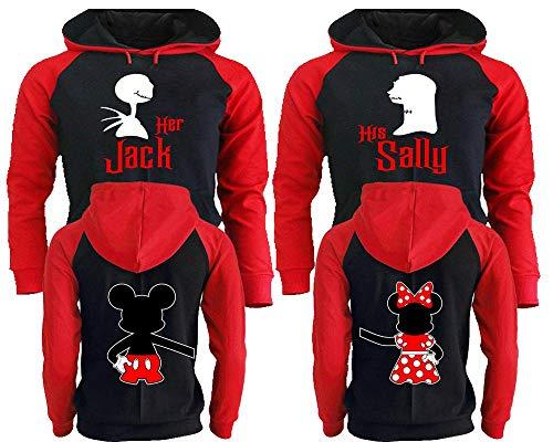 Her Jack His Sally Hoodies - Couple Matching Hoodies - King and Queen Hoodies