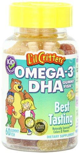 L'il Critters oméga-3 vitamine Gummy poisson, 60 Count (pack de 2)