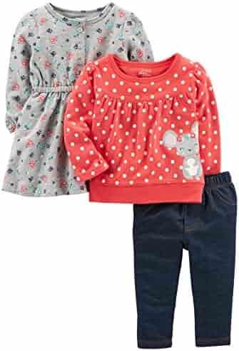 Simple Joys by Carter's Baby Girls' 3-Piece Playwear Set
