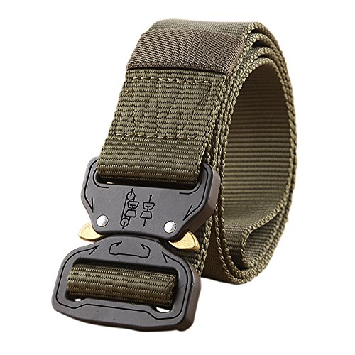 (Tactical Belt Military Style Heavy Duty Belt Tactical Sports Belts (ArmyGreen))