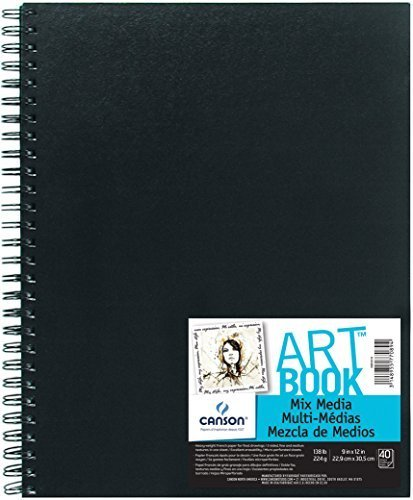 CANSON Mix Media Artbook, 40 Sheets, 9 by 12-Inch by CANSON Inc