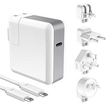 Amazon.com: USB-C 65W/61W Tipo C cargador adaptador de ...