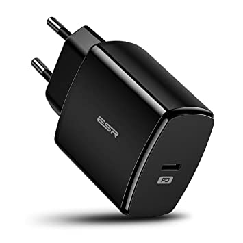 ESR Cargador USB C 18W Carga Rápida Power Delivery 2.0, Quick Charge para iPhone 11/11 Pro/11 Pro MAX/XR/XS/XS MAX/X, Samsung ...