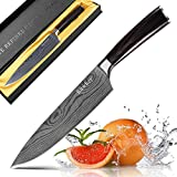 #8: 8 Inch Chef Knife Professional kitchen Knives Japanese Damascus  High Carbon Stainless Steel With Ergonomics Handle,Ultra Sharp ,Wear Resistant, Anti Corrosion,Best For Kitchen And Home