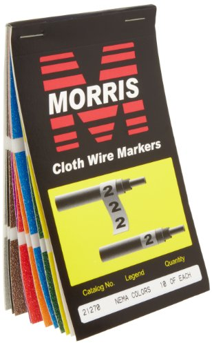 morris-products-21270-wire-marker-booklet-cloth-10-nema-colors-markings