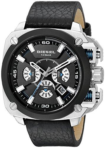 - Diesel Men's DZ7345 Bamf Stainless Steel Black Leather Watch