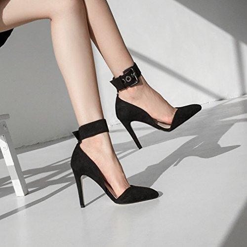 Alrededor Del Tobillo Boca Baja Tacones Altos Dos Usan Zapatos de Mujer UN