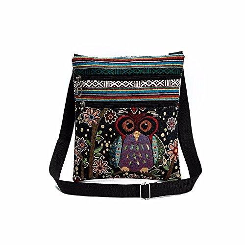 Women Shoulder Bags,Realdo 2018 New Embroidered Cartoon Owl Tote Bags Pillow Handbags Ladies Satchel -