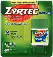 Zyrtec 24 Hour Allergy Relief Tablets, 10 mg Cetirizine HCl Antihistamine Allergy Medicine 90 ct