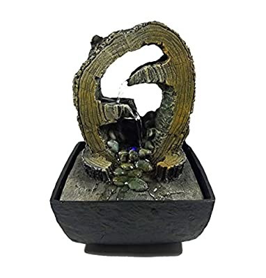 GiftsRDecor Tabletop Fountain Water Cascading In Tree Trunk