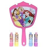 Disney Princess Lipstick Set with Bonus Mirror, 5 Count