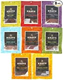 KRAVE Beef, Pork, and Turkey Jerky Variety Pack, Assorted Flavors, Gluten Free, 3.25 Ounce (Pack of 8)