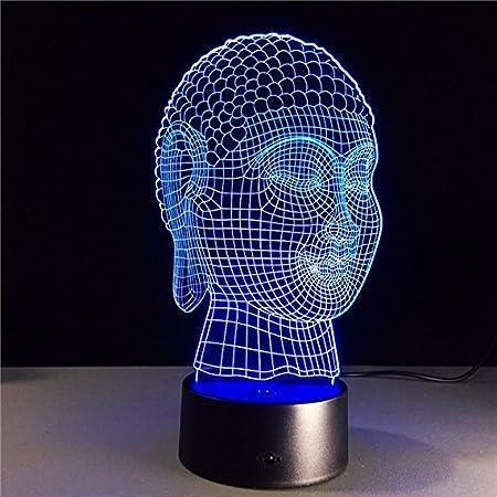 Buda Noche luz Budismo lámpara Color Noche luz decoración innovación Buena Suerte