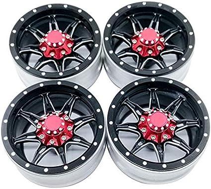 4pcs 1.9inch Alloy Metal Beadlock Wheel Rims for SCX10 D90 90046 1//10 RC Crawler