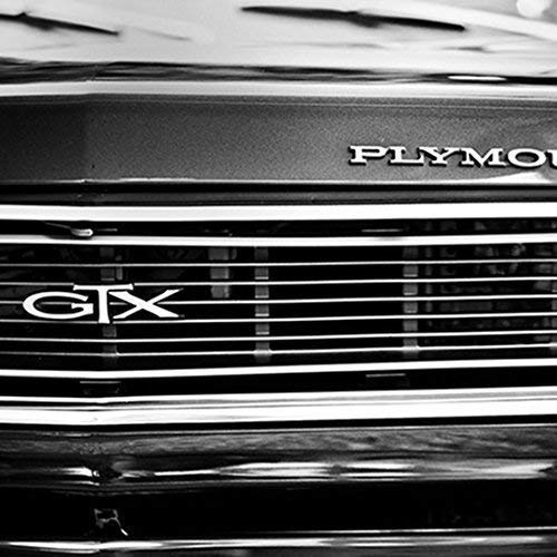 Gtx Pictures Plymouth (Hot Rod Man Cave Art Plymouth GTX Classic Car Black and White Photo or Canvas)