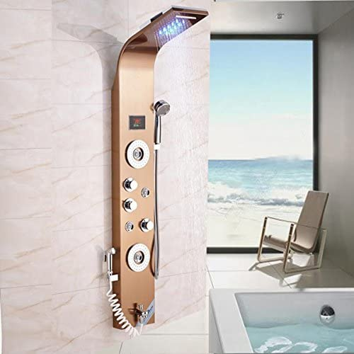 Luxurious shower Ducha de cascada ducha LED Sistema de masaje de ...