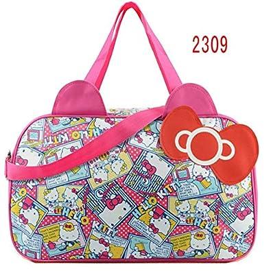 f93096078816 HITSAN INCORPORATION Waterproof Travel Bag Luggage Womens Girls Cartoon  Shoulder Tote Duffle Bags Cute Hello Kitty