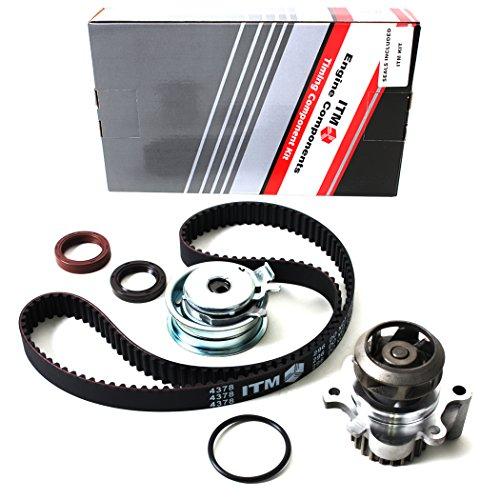 New ITM296WP (138 Teeth) Timing Belt Kit, Oil Seals, and Water Pump (w/ Metal Impeller) -